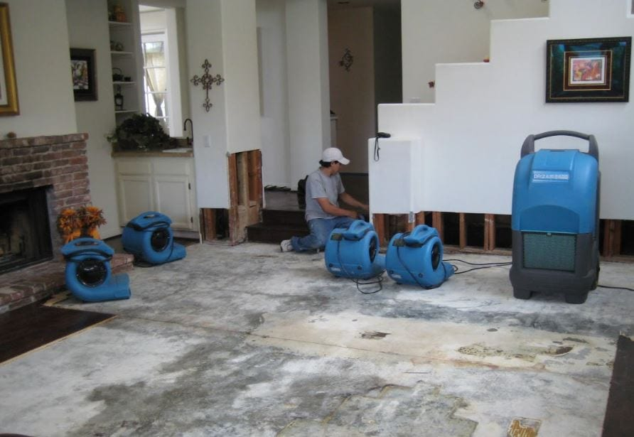 Flood Damage Cleanup in Anza, CA (4546)